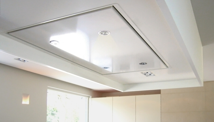 Les hottes aspirantes plafonni res neerim so inox for Hotte plafond moteur deporte